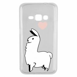 Чохол для Samsung J1 2016 Alpaca with a heart