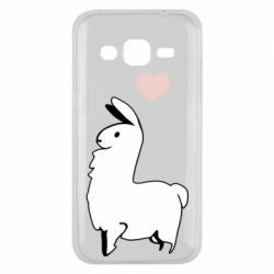 Чохол для Samsung J2 2015 Alpaca with a heart