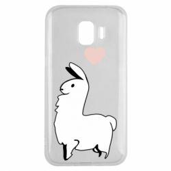 Чохол для Samsung J2 2018 Alpaca with a heart