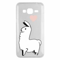 Чохол для Samsung J3 2016 Alpaca with a heart