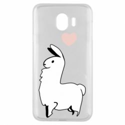 Чохол для Samsung J4 Alpaca with a heart