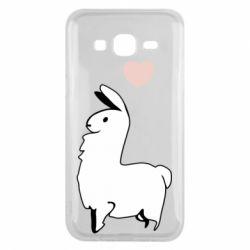 Чохол для Samsung J5 2015 Alpaca with a heart