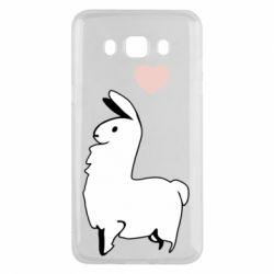 Чохол для Samsung J5 2016 Alpaca with a heart