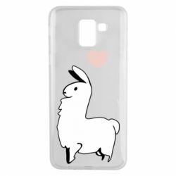 Чохол для Samsung J6 Alpaca with a heart