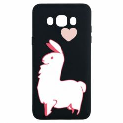 Чохол для Samsung J7 2016 Alpaca with a heart