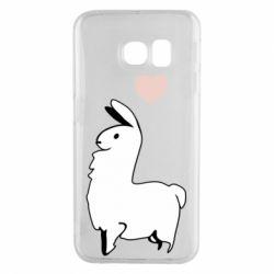 Чохол для Samsung S6 EDGE Alpaca with a heart
