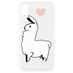 Чохол для iPhone XR Alpaca with a heart