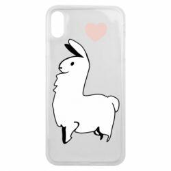 Чохол для iPhone Xs Max Alpaca with a heart