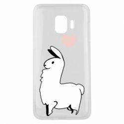 Чохол для Samsung J2 Core Alpaca with a heart