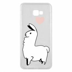 Чохол для Samsung J4 Plus 2018 Alpaca with a heart