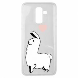 Чохол для Samsung J8 2018 Alpaca with a heart
