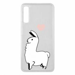 Чохол для Samsung A7 2018 Alpaca with a heart