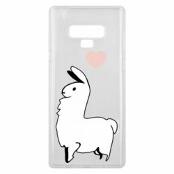 Чохол для Samsung Note 9 Alpaca with a heart