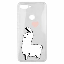 Чехол для Xiaomi Mi8 Lite Alpaca with a heart