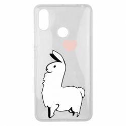 Чехол для Xiaomi Mi Max 3 Alpaca with a heart