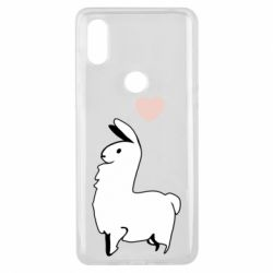 Чехол для Xiaomi Mi Mix 3 Alpaca with a heart