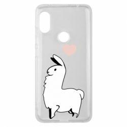 Чехол для Xiaomi Redmi Note 6 Pro Alpaca with a heart