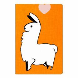 Блокнот А5 Alpaca with a heart