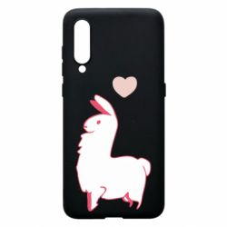 Чехол для Xiaomi Mi9 Alpaca with a heart