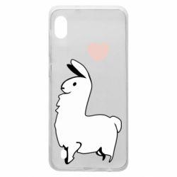 Чохол для Samsung A10 Alpaca with a heart