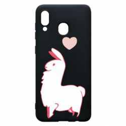 Чохол для Samsung A30 Alpaca with a heart