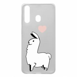 Чохол для Samsung A60 Alpaca with a heart
