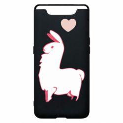 Чохол для Samsung A80 Alpaca with a heart