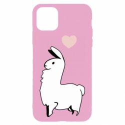 Чохол для iPhone 11 Alpaca with a heart