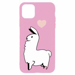 Чохол для iPhone 11 Pro Max Alpaca with a heart
