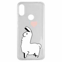 Чехол для Xiaomi Redmi Note 7 Alpaca with a heart