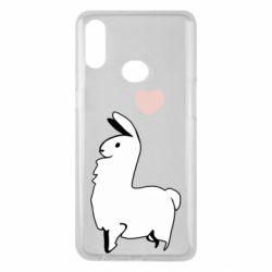 Чохол для Samsung A10s Alpaca with a heart