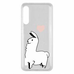Чохол для Xiaomi Mi A3 Alpaca with a heart