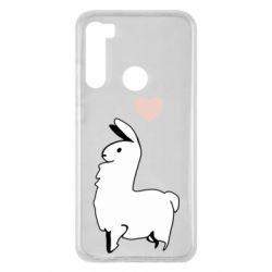 Чехол для Xiaomi Redmi Note 8 Alpaca with a heart