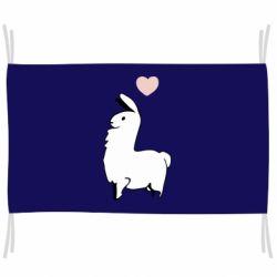Прапор Alpaca with a heart
