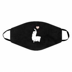Маска для обличчя Alpaca with a heart
