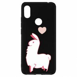 Чехол для Xiaomi Redmi S2 Alpaca with a heart