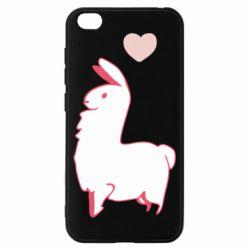 Чехол для Xiaomi Redmi Go Alpaca with a heart