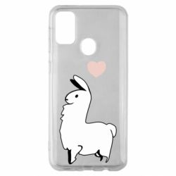 Чохол для Samsung M30s Alpaca with a heart