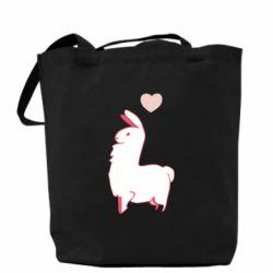 Сумка Alpaca with a heart