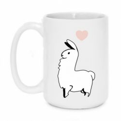 Кружка 420ml Alpaca with a heart