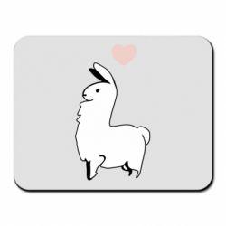Килимок для миші Alpaca with a heart