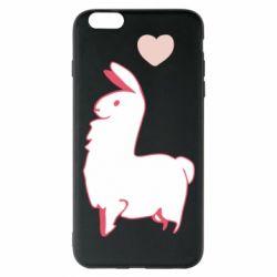Чохол для iPhone 6 Plus/6S Plus Alpaca with a heart