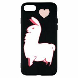 Чохол для iPhone 7 Alpaca with a heart