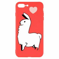Чохол для iPhone 7 Plus Alpaca with a heart