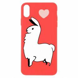 Чохол для iPhone X/Xs Alpaca with a heart