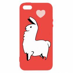 Чохол для iphone 5/5S/SE Alpaca with a heart