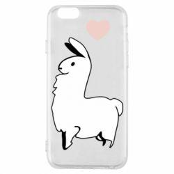 Чохол для iPhone 6/6S Alpaca with a heart