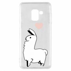 Чохол для Samsung A8 2018 Alpaca with a heart