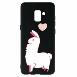Чохол для Samsung A8+ 2018 Alpaca with a heart