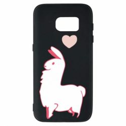 Чохол для Samsung S7 Alpaca with a heart
